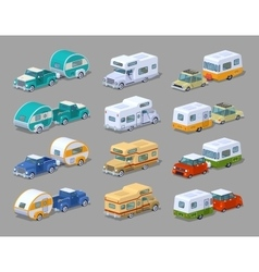 Collection of the motorhomes vector