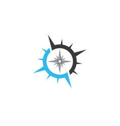 compass symbol for logo design exploration icon vector image