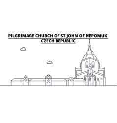 Czech republic - pilgrimage church of st john of vector