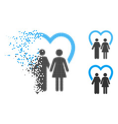 dispersed dot halftone marriage icon vector image