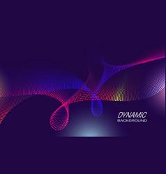 Dynamic waves background design poster backdrop vector