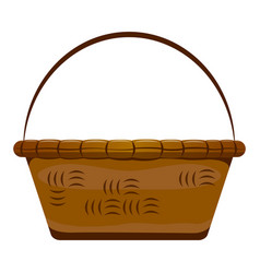 empty wooden basket vector image