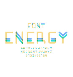 energy font alphabet vector image