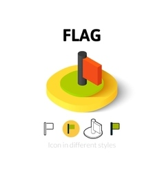 Flag icon in different style vector