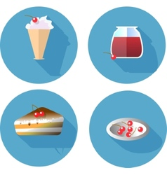 Flat design icons set template elements for web vector image