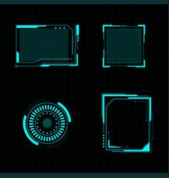 futuristic user interface vector image