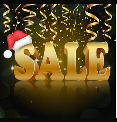 Golden sale on the black background vector