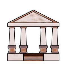 greek building design vector image