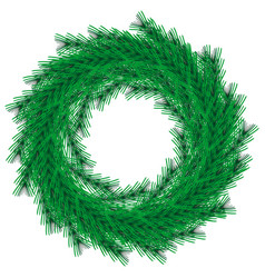 Green christmas wreath isolated on backgrou vector