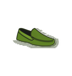 green shoe logo design inspiration isolated on vector image