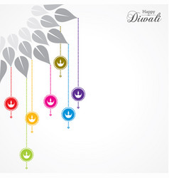 Greeting for celebrate diwali concept vector