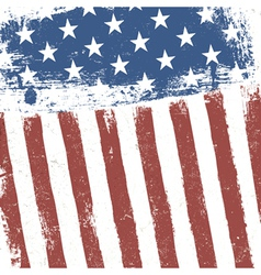 Grunge american flag background vector