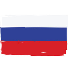 grunge russia flag or banner vector image