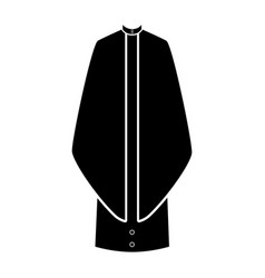 isolated cassock silhouette vector image