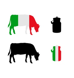 Italian milk cow vector image