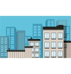 Landscape flat city design of vector