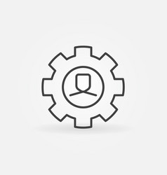 man in gear line icon vector image