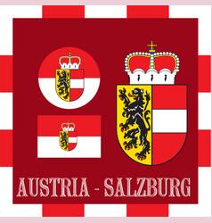 national ensigns of salzburg - austria vector image