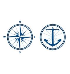 nautical elements vector image