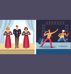 opera and rock music concert musical performance vector image