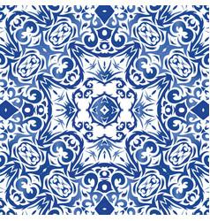 Ornamental motive in colored ceramic tiles vector