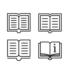 Outline book icons vector