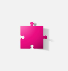 Paper clipped sticker puzzle vector