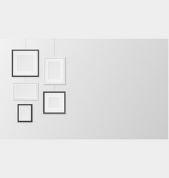 pictures photos frames white and black design vector image