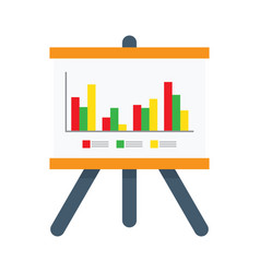 Presentation chart icon vector