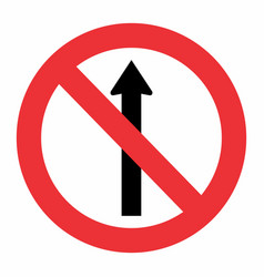 prohibited way traffic sign vector image