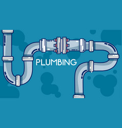 pumbling and pipeline vector image