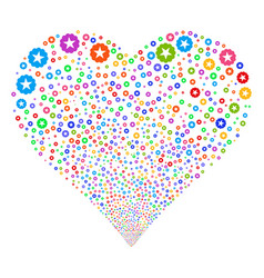 Quality fireworks heart vector