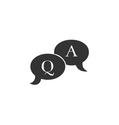 Question and answer mark in speech bubble icon vector