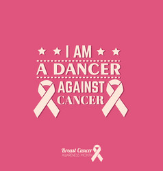 quote typographical background about cancer with vector image