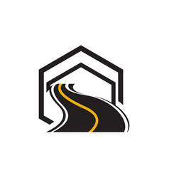 Road maintenance creative sign concept paving vector