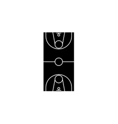 scheme of the basketball field icon vector image