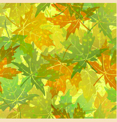 seamless pattern maple leaves vector image