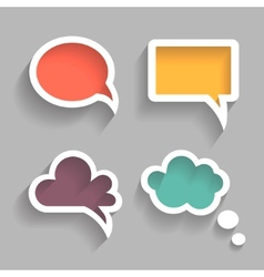 set colorful speech bubbles vector image