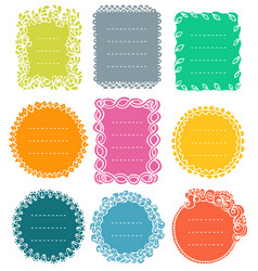set doodle frames for bullet journal vector image