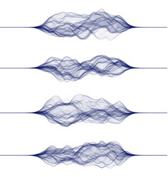 set sound waves made lines vector image