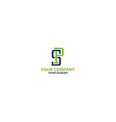 simple ps logo design vector image