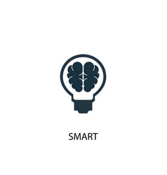 smart icon simple element smart vector image
