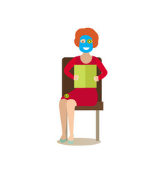 Spa people concept flat vector