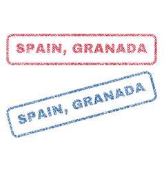 Spain granada textile stamps vector