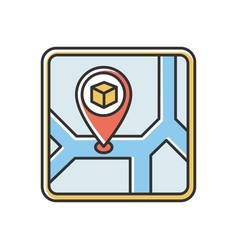 Storage place rgb color icon warehouse location vector