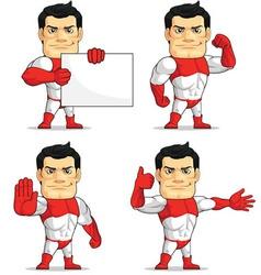 Superhero customizable mascot 6 vector