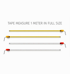 Tape measure yellow and red yardstick 1 meter vector