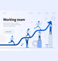 teamwork interaction efficiency business template vector image