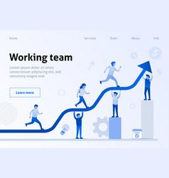 Teamwork interaction efficiency business template vector