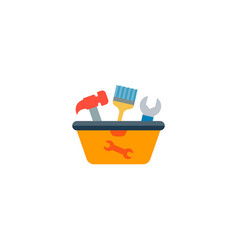 tool in box icon flat element vector image